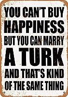Shimaier 壁の装飾 メタルサイン Marry A Turk ウォールアート バー カフェ 縦20×横30cm ヴィンテージ風 メタルプレート ブリキ 看板