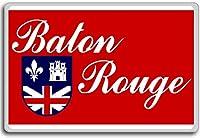 Usa, Louisiana, Baton Rouge city flag fridge magnet - ?????????