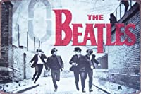 "The Beatles Rock Band音楽、メタルTin Sign,ヴィンテージスタイル壁飾りコーヒー&バー装飾、サイズ8"" x 12"""