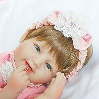 Smiling Rebornで新生児ガールズソフトビニールベビー人形シリコン16インチリアルな子供磁気おもちゃおしゃぶり