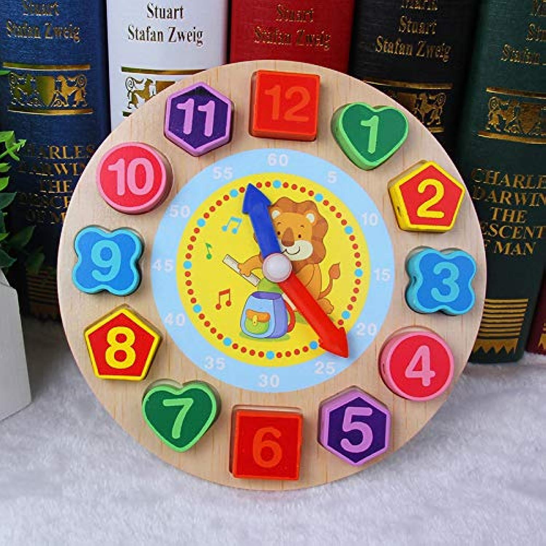 図形認知 モンテッソーリ 幾何認知 幼児 教育 木製 知育玩具 木製 おもちゃ パズル 子供用 女の子 男の子 誕生日 クリスマス プレゼント (ライオンタイプ, 18cm×18cm)