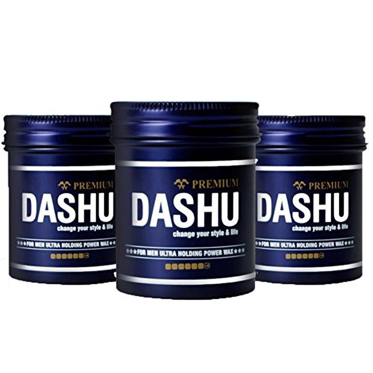 引き受ける作り上げるキャリッジ(3個セット) x [DASHU] ダシュ For Men男性用 プレミアムウルトラホールディングパワーワックス Premium Ultra Holding Power Hair Wax 100m l/ 韓国製 . 韓国直送品