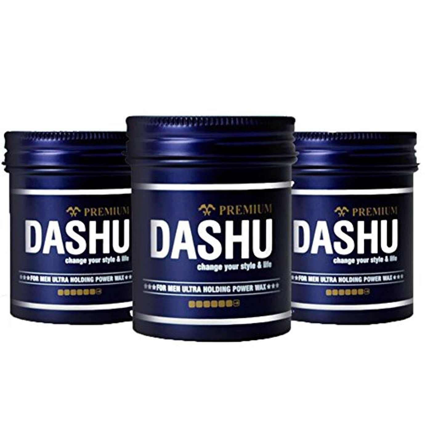バルコニー解き明かすに付ける(3個セット) x [DASHU] ダシュ For Men男性用 プレミアムウルトラホールディングパワーワックス Premium Ultra Holding Power Hair Wax 100m l/ 韓国製 . 韓国直送品
