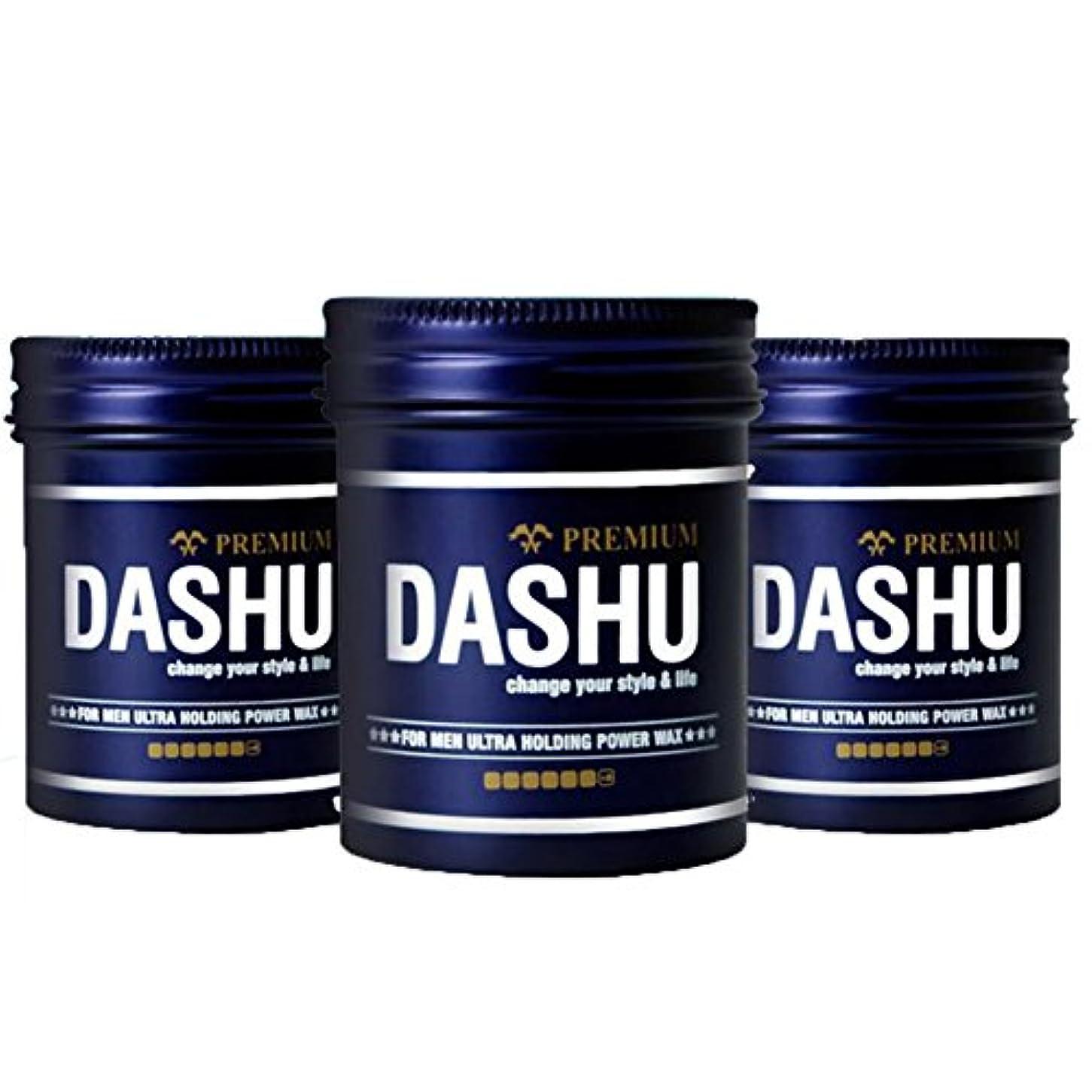 肌閃光よく話される(3個セット) x [DASHU] ダシュ For Men男性用 プレミアムウルトラホールディングパワーワックス Premium Ultra Holding Power Hair Wax 100m l/ 韓国製 . 韓国直送品