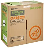 エレコム LANケーブル 300m 自作用 RoHS指令準拠 CAT6 ライトグレー LD-CT6/LG300/RS