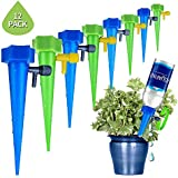 Adjustable Plant Waterer, Self Watering Spikes Devices with Slow Release Control Valve Switch for Outdoor Indoor Flower Or Vegetables - 12 Pack