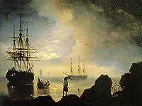 手描き-キャンバスの油絵 - fishermen on the shore IBI Ivan Aivazovsky 芸術 作品 洋画 ウォールアートデコレーション -サイズ07
