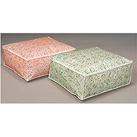 高機能 毛布袋(リーフ柄) グリーン ds-1874476