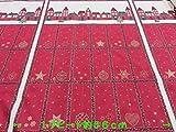 アウトレット50%(特価)USAコットン生地 パネル柄 ラメ入り クリスマスタウン レッド 1リピート約56cm    |生地|布地|服地|パジャマ|シャツ|ワンピース|スカート|ナチュラル|やわらかい|上質|メーカー処分品|
