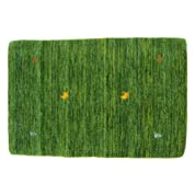 ギャベ 玄関マットサイズ(緑) (約60 x 90cm)