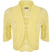 WearAll Womens Crochet Shrug Knitted Bolero Top Women Cardigan