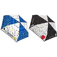スヌーピー 折り畳み傘 2柄セット(ブルー ポップ・モノトーン)