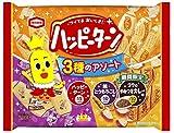 亀田製菓 ハッピーターン 3種のアソート(レギュラー味、焼とうもろこし味、コクのやみつきカレー味) 140g×12袋
