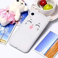 IPhone XR用チェシャ猫パターンシリコン保護ケース L&Y (色 : 白)