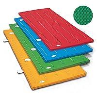 体操マット 滑り止め付 エステルカラーマット グリーン SGマーク付 サイズ:90×180×5cm