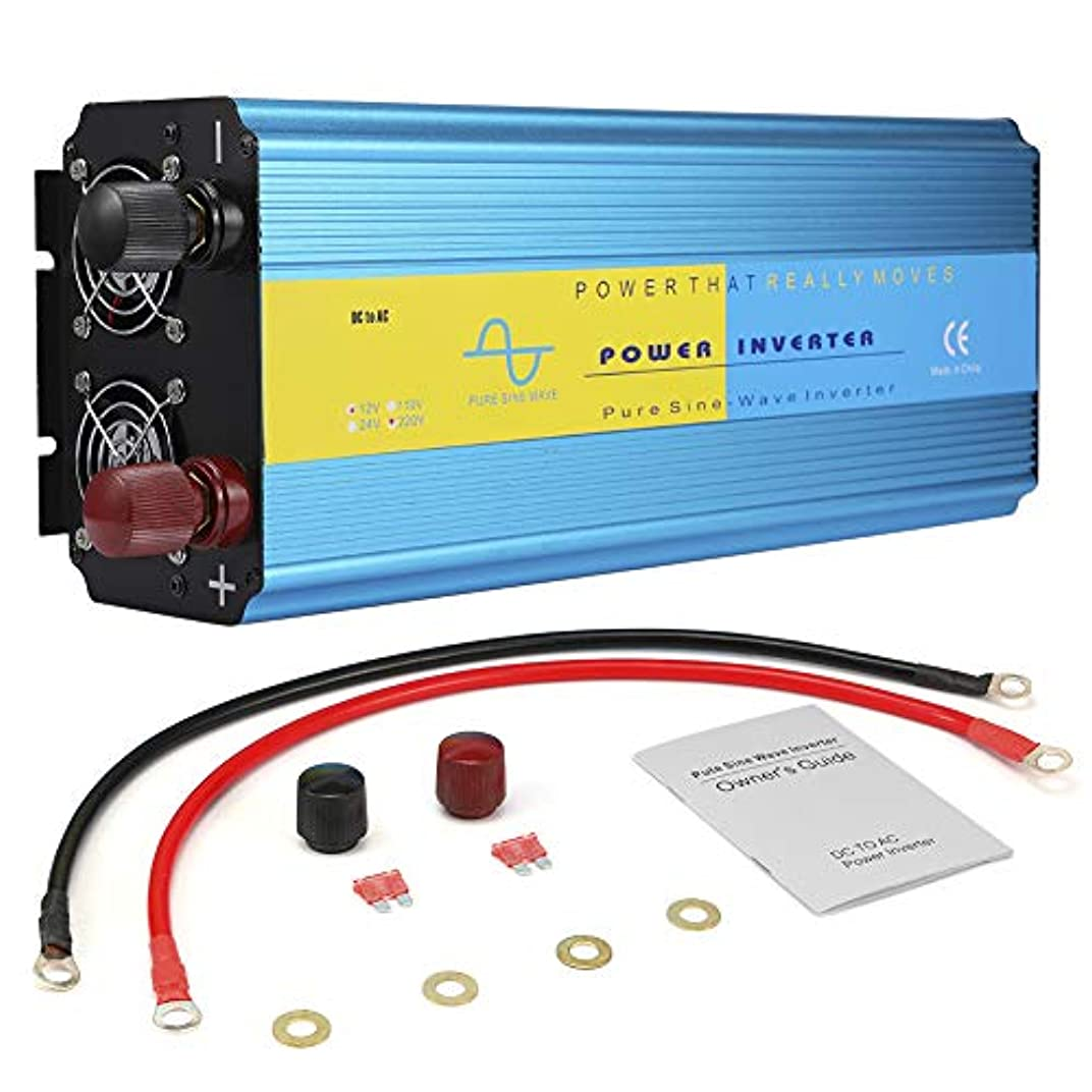 前述のデイジーフィードオンGorgeri 3000W DC12V純粋な正弦波インバーター、車の電源コンバーター電源インバーター電圧トランスユニバーサルソケット(AC110V)