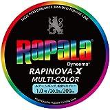 Rapala(ラパラ) ライン ラピノヴァXマルチカラー1.0号/20.8lb/9.4kg/200m RXC200M10MC