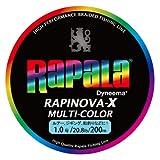 ラパラ(Rapala) PEライン 1.0号 20.8lb 4本 200m ラピノヴァX マルチカラー マルチカラー RXC200M10MC