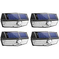 Mpow センサーライト ソーラーライト 30led IPX6防水 屋外照明 センサー時間30s 人感ライト 自動点灯 玄関 庭 駐車場 18ヶ月間保証 停電防災緊急対策 4個