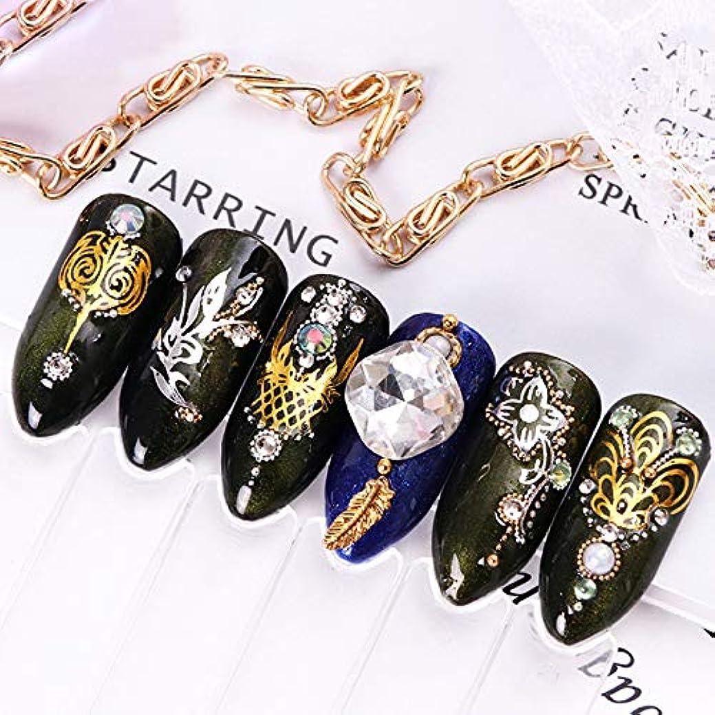 電話に出る厚さ朝の体操をする16枚ネイルアートゴールドフォイルステッカーデカールフラワーネックレスデザインDIYの装飾