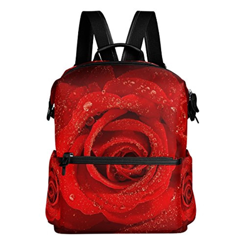 バララ(La Rose) リュックサック 高校生 子供 通学 大容量 かわいい レッド 赤い バラ 花柄 リュック レディース 大人 おしゃれ 通勤 軽量 防水 キャンバス バッグ 学生 旅行 収納バック アウトドア デイパック