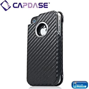 CAPDASE 日本正規品 iPhone 4S / 4 Capparel Protective Case: Grafite, Black ハンドメイド レザーケース 「グラファイト」, ブラック CPIH4-G011