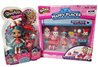 Shopkins shoppie Jessicake with Happy Places Dreamy Bear Welcomeパック2 Pieceバンドル