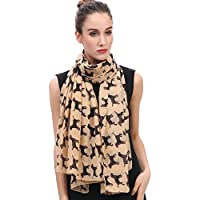 Lina & Lily Labrador Retriever Dog Print Women's Large Scarf Lightweight