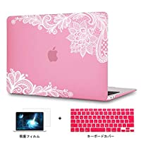 Redlai 旧型 MacBook Pro 13 CD ROM付き 超薄型 軽量プリントカバー 対応モデル(A1278) Air 13.3 インチ 専用シェルカバー ハードケース Macbook ケース 液晶保護フィルムと日本語キーボードカバー付き(M107 ピンク)