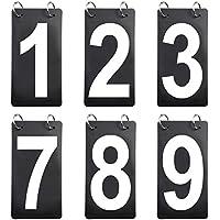 ゴーゴー(GOGO) 6セット入り スコアボード 0-9 交換カード 数字カード 両面 得点カード 多目的 スポーツ 球技 テニス バスケットボール用