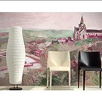 Lcymt カスタム3D壁画、ノスタルジックな城の風景ホテルレストランバーリビングルームのソファテレビ壁の寝室の壁紙-280X200Cm