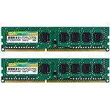 シリコンパワー デスクトップPC用メモリ 1.35V (低電圧) - 1.5V 両対応 240Pin DDR3L-1600 PC3L-12800 8GB×2枚 永久保証 SP016GLLTU160N22
