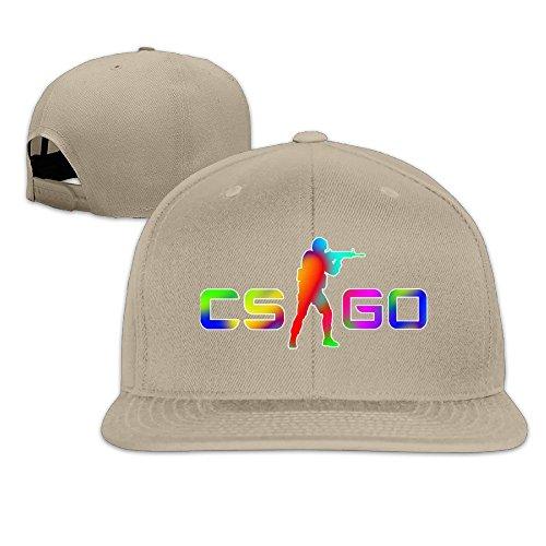 ARIアリ ゲーム カウンター ストライク ロゴ デザイン おとな UV対策 帽子 平らつば 通勤 男女兼用 調節可能 ベージュ