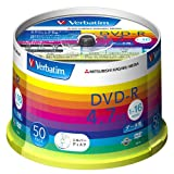 三菱化学メディア Verbatim DVD-R(Data) 1回記録用 4.7GB 1-16倍速 スピンドルケース50P シルバーディスク  DHR47J50V1