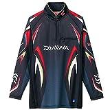 ダイワ(Daiwa) 釣り シャツ 長袖 ジップアップシャツ スペシャルアイスドライ メッシュ DE-7006 ブラック L