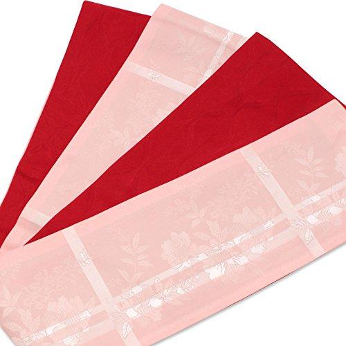 (キステ)Kisste 半巾帯 浴衣用 リバーシブル半巾帯 <薄ピンク/格子に牡丹> 5-8-02955