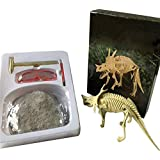 OMAS Dinosaur Dig Science Kit , Manual DIY Assembly of Dinosaur Skeleton Dinosaur Fossil Toys for Children(Styracosaurus)