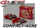 アクレ/ACRE ブレーキパッド フロント コンパクトアクレ 645 タント/タントカスタム L375S(TURBO ,RS)