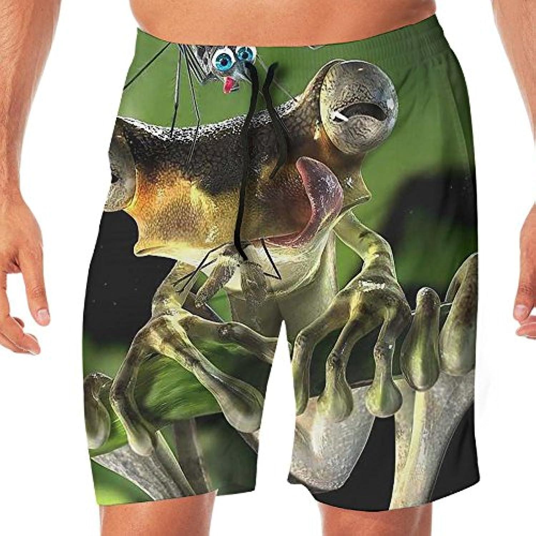 メンズ水着 ビーチショーツ ショートパンツ 3D カエル スイムショーツ サーフトランクス 速乾 水陸両用 調節可能