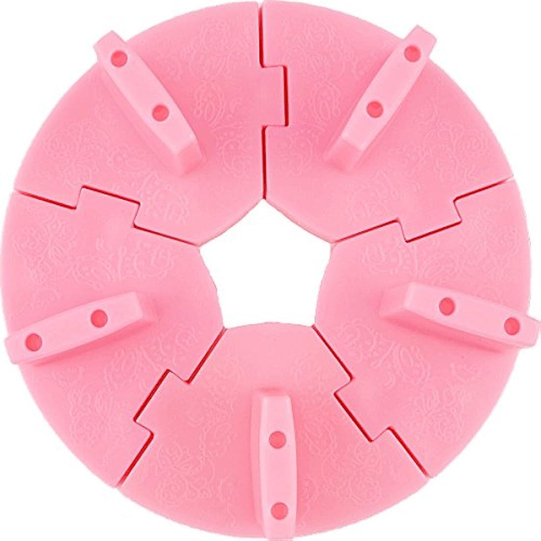 核熱意構築するネイル チップスタンド 固定チップ5個付き (ピンク)