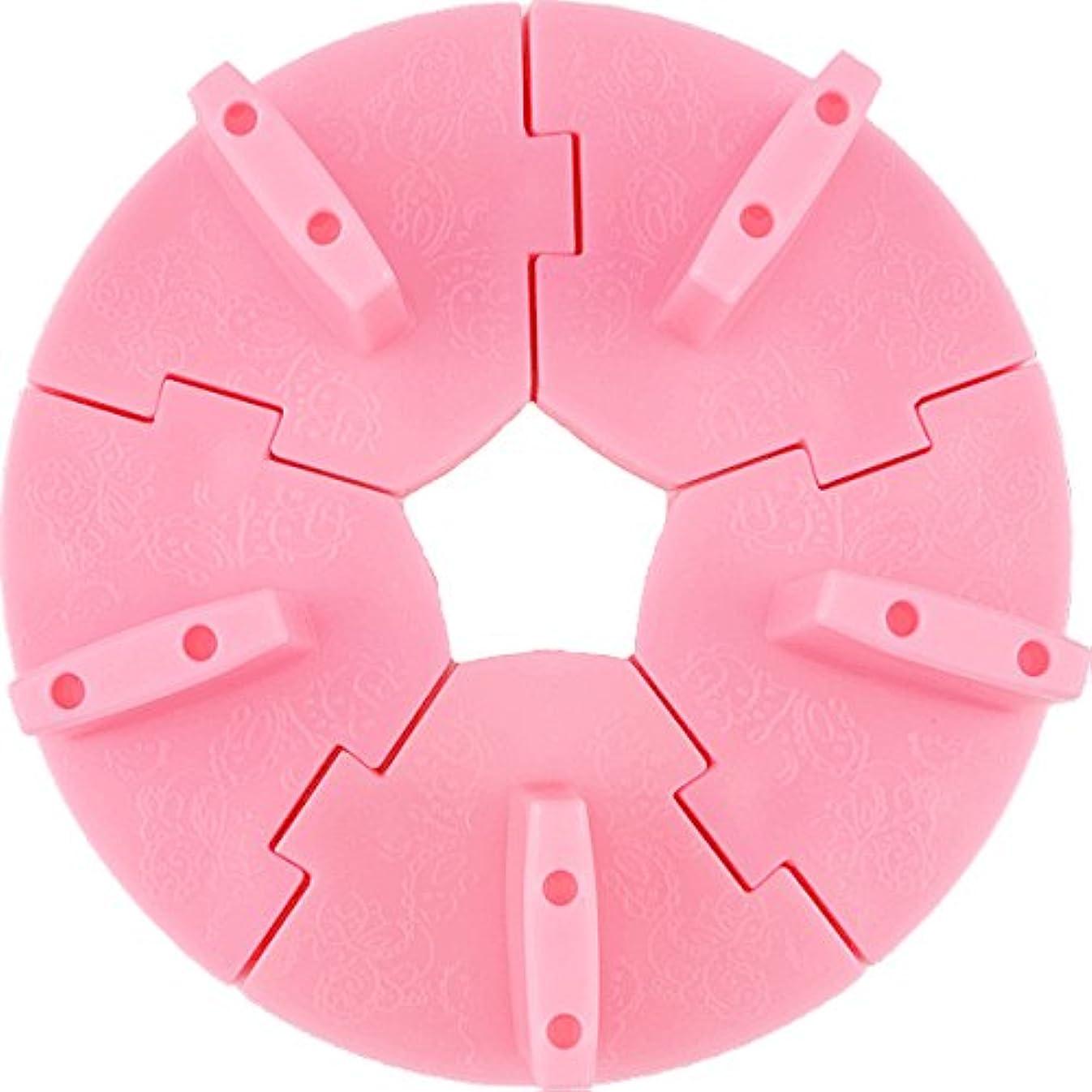とまり木吐き出す目立つネイル チップスタンド 固定チップ5個付き (ピンク)