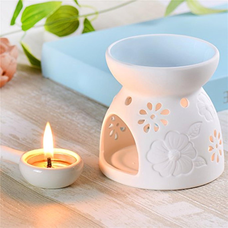 販売員配管高原セラミックEssential Oil Warmer : Great for瞑想、アロマセラピー – Fragrance Diffuser使用with Tea Lights – Ideal For Wedding Gifts...