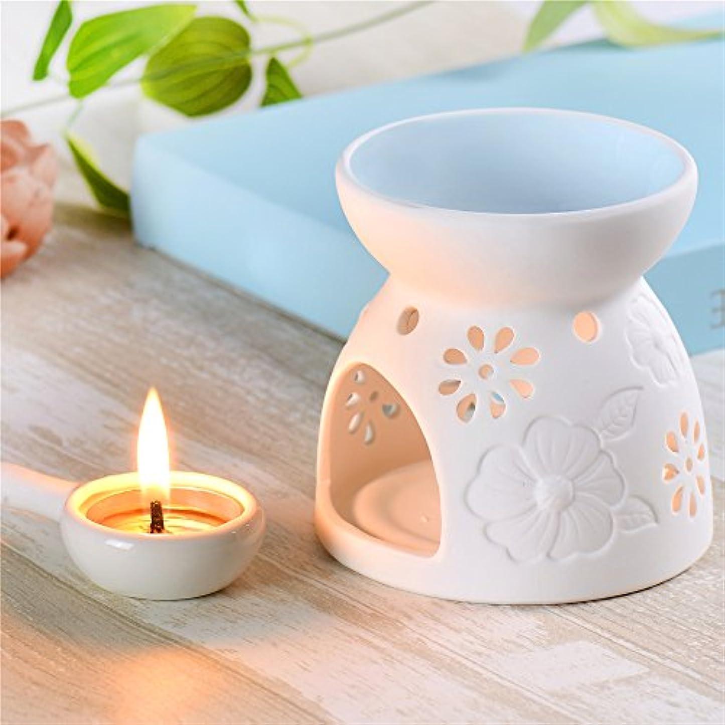 水っぽいジャングルカタログセラミックEssential Oil Warmer : Great for瞑想、アロマセラピー – Fragrance Diffuser使用with Tea Lights – Ideal For Wedding Gifts...