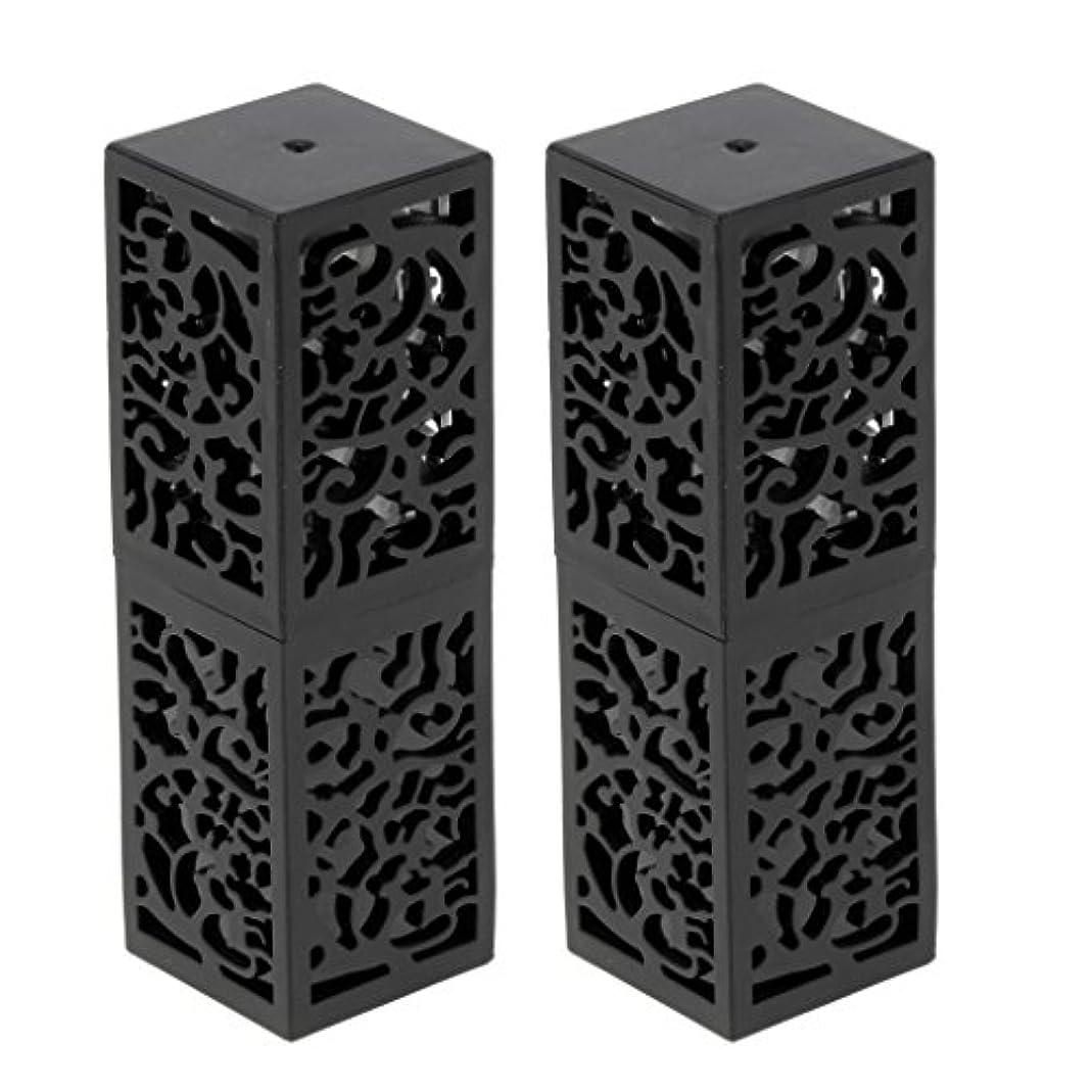 Sharplace おしゃれ 口紅チューブ リップスティックチューブ 内径1.21cm 金型 手作り 2個 全2色 - ブラック