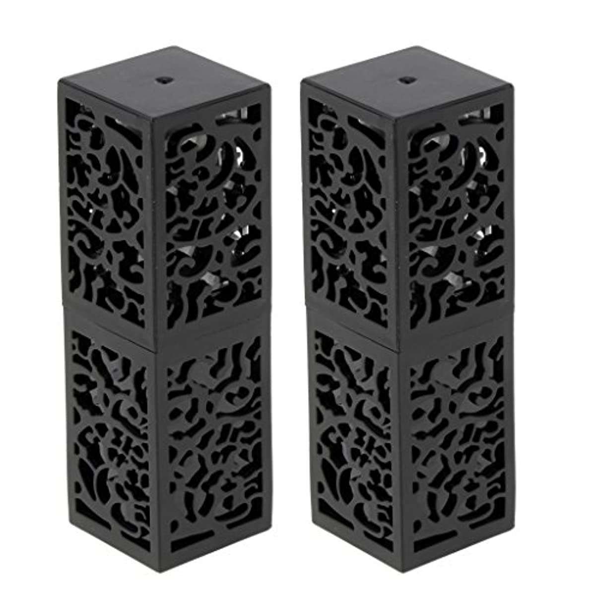 T TOOYFUL 2本入り 空チューブ リップスティックチューブ 口紅チューブ リップクリーム 容器 化粧品 全2色 - ブラック