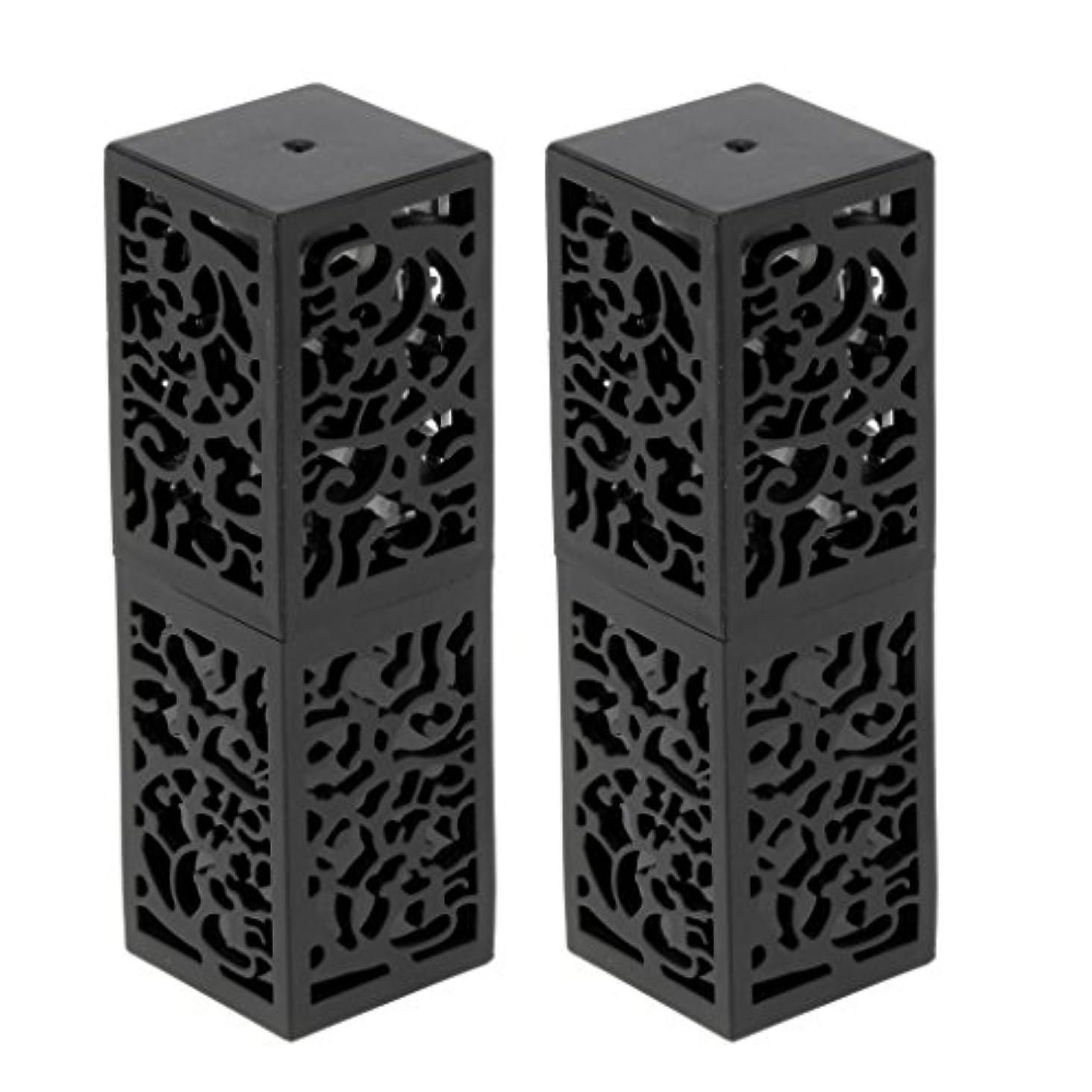 戻す用量ペネロペSharplace おしゃれ 口紅チューブ リップスティックチューブ 内径1.21cm 金型 手作り 2個 全2色 - ブラック