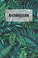 Afghanistan: Dotted Travel Diary Notebook or Journey Dotted Grid Journal - Holiday Trip Pocketbook for Men and Women with Dots