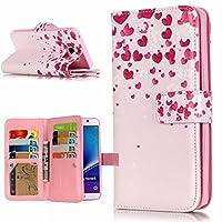 UNEXTATI Galaxy Note 5 ケース PUレザー 手帳型ケース 保護カバー カード収納 液晶保護 防塵 Samsung Galaxy Note5 用 Case Cover (P7 ピンク)