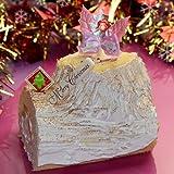 クリスマスケーキ 予約【お届け12/22~12/25】ブッシュドノエル 青森県産りんご使用 長さ14㎝ 約5人分