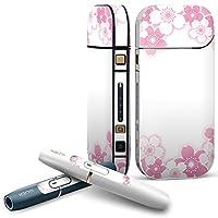 IQOS 2.4 plus 専用スキンシール COMPLETE アイコス 全面セット サイド ボタン デコ フラワー 花 フラワー ピンク 005708
